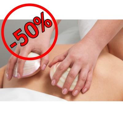 Schelpen Massage (25min.) + Sauna Dagkaart